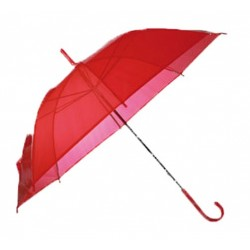 Parapluie rouge transparent