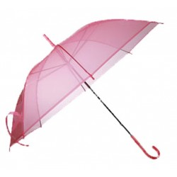 Parapluie rose transparent