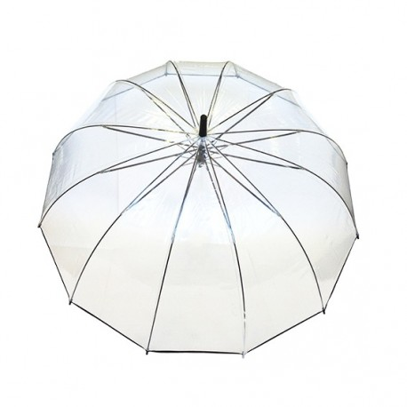 Grand parapluie transparent pliant