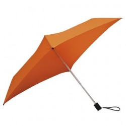 Parapluie pliant carré All Square droit ouverture manuelle - orange