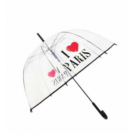 Parapluie transparent - I love Paris