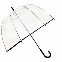 Parapluie transparent - grande cloche