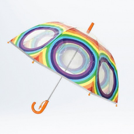Parapluie enfant Kid's Rainbow bordure fluo