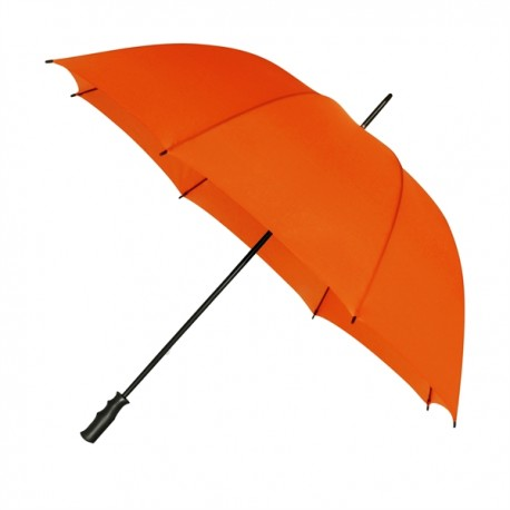 Parapluie de golf orange - résistant au vent