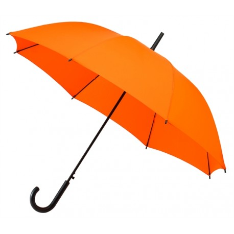 Parapluie Falconetti orange automatique poignée canne