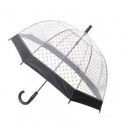 "Parapluie transparent ""Smart Bulle"" ronds noirs"