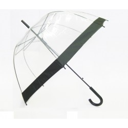 Parapluie transparent Smart Bulle bordure noire