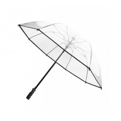 Grand parapluie golf transparent noir