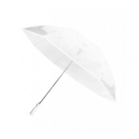 Grand parapluie golf transparent blanc