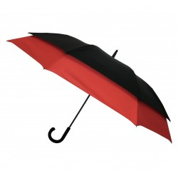 Parapluie 2 personnes double extension automatique - noir rouge