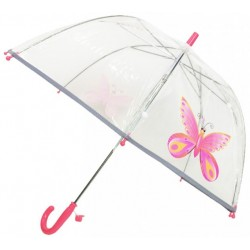 Parapluie enfant transparent papillon