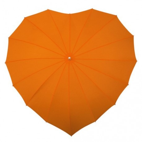 Parapluie forme de coeur orange