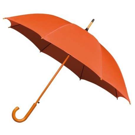 Parapluie Falconetti orange automatique manche en bois