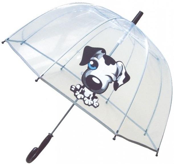 Parapluie enfant motif chien avec toile transparente