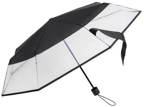 Un parapluie pliant et transparent (réf.: LF-140-8120)